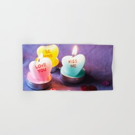 Valentines Candles Photography Print Hand & Bath Towel