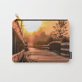 A beautiful sunrise view from a park footbridge Carry-All Pouch