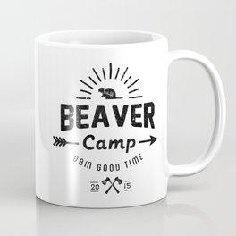 Beaver Camp: Dam Good Time (Black Text) Coffee Mug