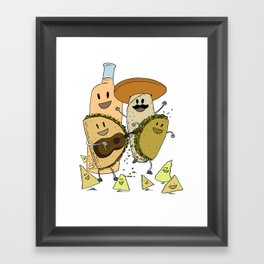 Happy Tacos Framed Art Print