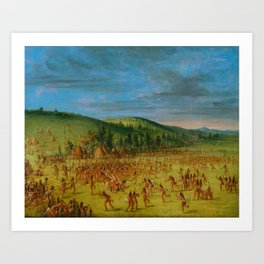 George Catlin - Ball-play of the Choctaw Art Print