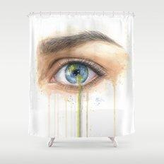Crying Earth Eye Shower Curtain