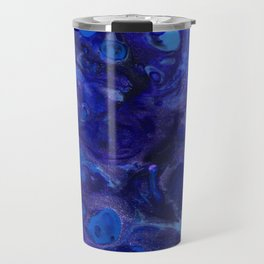 Blue Abyss Abtract Travel Mug