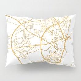 AARHUS DENMARK CITY STREET MAP ART Pillow Sham