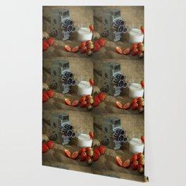 Sekonic and Strawberries Wallpaper