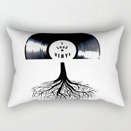 I Love Vinyl Rectangular Pillow