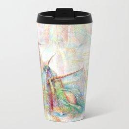 Vegetal color chaos Metal Travel Mug
