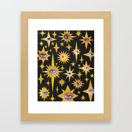 Star eyes Framed Art Print