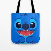 stitch Tote Bags featuring Stitch by skyetaylorrr