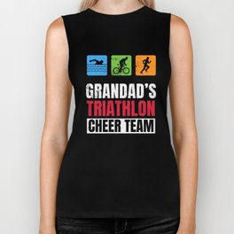 Grandads Triathlon Supporters Family Cheer  Biker Tank