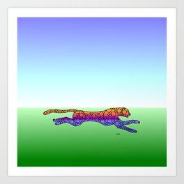 Steampunk Cheetah Art Print