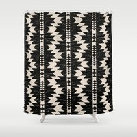 navajo Shower Curtains featuring NAVAJO by bows & arrows