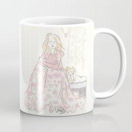 Sweet Fluffy Pomeranian and Woodland Fashion Nymph Coffee Mug