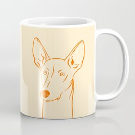 Ibizan Hound (Beige and Orange) Coffee Mug