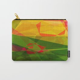 Pink Roses in Anzures 5  Abstract Polygons 3 Carry-All Pouch