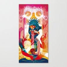 Kollaps, the print Canvas Print