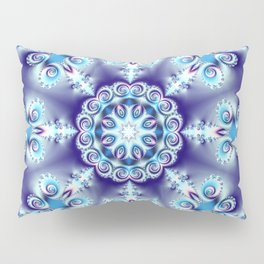 Elegant swirly kaleidoscope design in soft blue, pink, purple and cream Pillow Sham