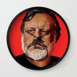 Slavoj Žižek Portrait Wall Clock