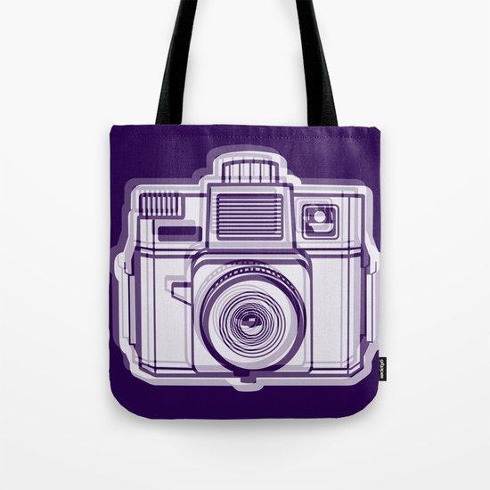 I Still Shoot Film Holga Logo - Reversed Deep Purple Tote Bag