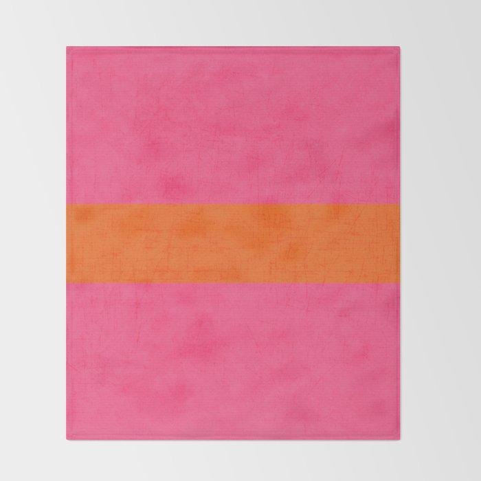 hot pink and orange classic  Decke