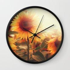 Sunflower. Wall Clock