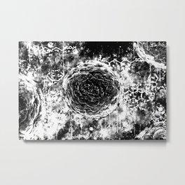 bacteria wsbw Metal Print
