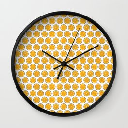 Orange Citrus Slices on White Wall Clock
