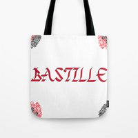 bastille Tote Bags featuring bastille by Revital Krispin