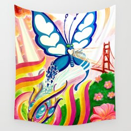 """""""SF Butterfly"""" by Adam France Wall Tapestry"""