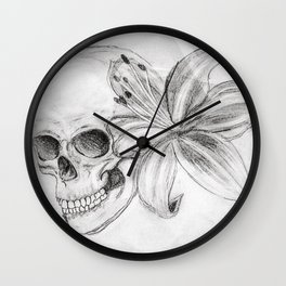 Skullgazer Lily Wall Clock