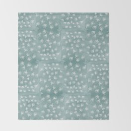 snowy Pohutukawa flakes Throw Blanket