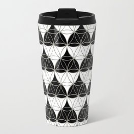 Heart Pattern Black-White Travel Mug