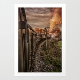 Evening Train Art Print