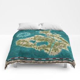 Pirate Adventure Map Comforters
