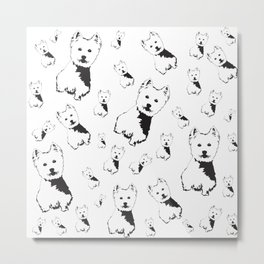 WEST HIGHLAND TERRIER GIFTS Metal Print