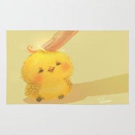 Scritch, a little yellow bird Rug