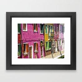 Burano, Venice - Italy Framed Art Print