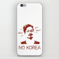 korea iPhone & iPod Skins featuring No, Korea by HMS James