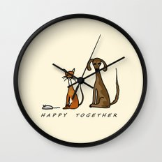 Happy Together - Domestic Wall Clock