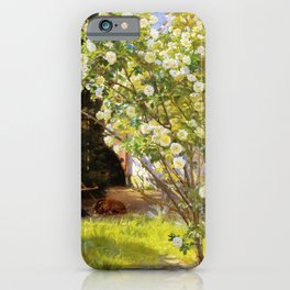 Roses. Marie Kroyer Seated In The Deckchair In The Garden By Mrs Bendsen's House 1893 iPhone Case