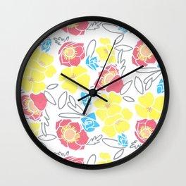 Ava & Charlotte Floral Pattern  Wall Clock