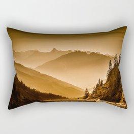 Arlberg Pass Mountain Landscape Rectangular Pillow