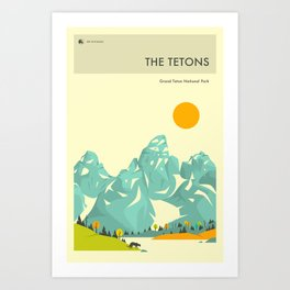GRAND TETON NATIONAL PARK POSTER Art Print