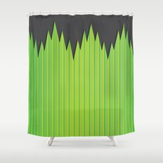 Japanese Plastic Grass Shower Curtain