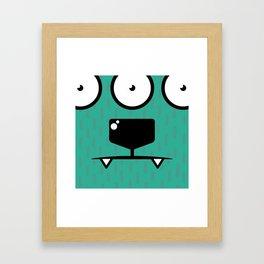 Monsters⁴ : Blue Framed Art Print