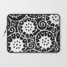 Black and White Swirl Pattern Laptop Sleeve