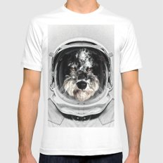 Buster Astro Dog White MEDIUM Mens Fitted Tee