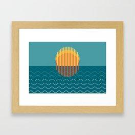 Minimalist Sunset Over Ocean, Holiday Print, Sun Set Poster, Large Printable Photography, Wall Art Framed Art Print