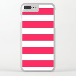 Awesome - solid color - white stripes pattern Clear iPhone Case