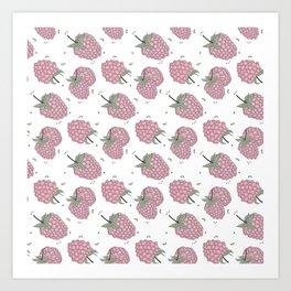 Pink raspberry Art Print